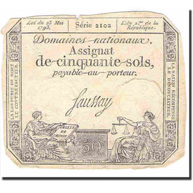 France, 50 Sols, Other, 1793, 1793-05-23, EF(40-45), KM:A70b