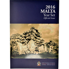Malta, 1 Cent to 2 Euro, 2016, MS(65-70)