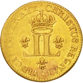 Coin, France, Louis d'Or, 1722, Reims, VF(30-35), Gold, KM:461, Gadoury:337