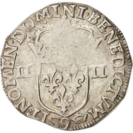 Coin, France, 1/4 Ecu, 1612, Rennes, EF(40-45), Silver