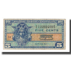 Banknote, United States, 5 Cents, Undated (1954), KM:M29a, VF(20-25)