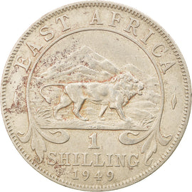 Coin, EAST AFRICA, George VI, Shilling, 1949, EF(40-45), Copper-nickel, KM:31