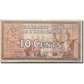 Banknote, FRENCH INDO-CHINA, 10 Cents, 1939, Undated (1939), KM:85d, EF(40-45)