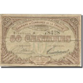 France, Gueret, 50 Centimes, 1915, Chambre de Commerce, VF(30-35)
