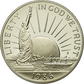 Coin, United States, Half Dollar, 1986, U.S. Mint, San Francisco, MS(65-70)