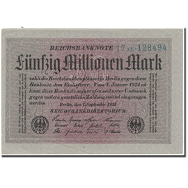 Banknote, Germany, 50 Millionen Mark, 1923, KM:109a, UNC(65-70)
