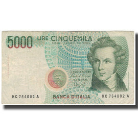 Banknote, Italy, 5000 Lire, KM:111b, VG(8-10)