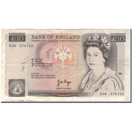 Banknote, Great Britain, 10 Pounds, (1975-1980), KM:379a, F(12-15)