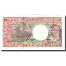 Banknote, French Pacific Territories, 1000 Francs, KM:2b, EF(40-45)