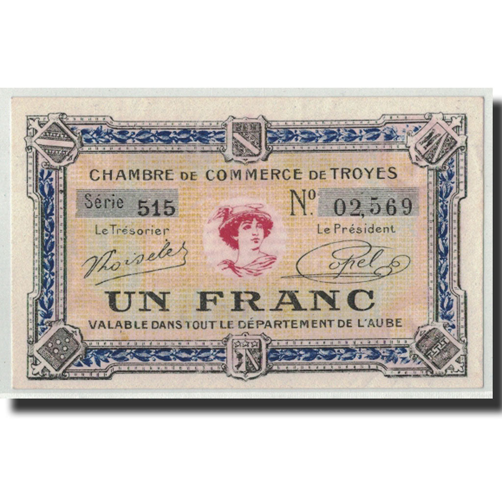 France, Troyes, 1 Franc, UNC(63), Pirot:124-14