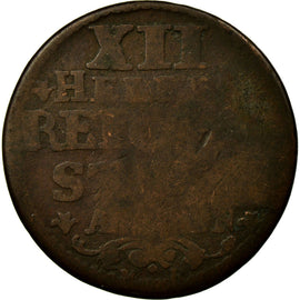 Coin, German States, AACHEN, 12 Heller, 1758, Achen, VF(30-35), Copper, KM:51