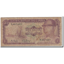 Banknote, The Gambia, 1 Dalasi, 1971, Undated, KM:4e, VF(20-25)