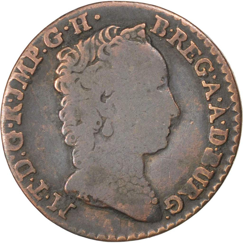 AUSTRIAN NETHERLANDS, Liard, Oord, 1750, Antwerp, KM #2, VF(20-25), Copper, 3.62