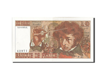 Banknote, France, 10 Francs, 10 F 1972-1978 ''Berlioz'', 1974, 1974-04-04
