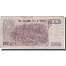 Banknote, South Korea, 1000 Won, KM:47, F(12-15)