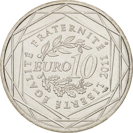 Banknote, France, 10 Euro, 2011, MS(64), Silver, KM:1729