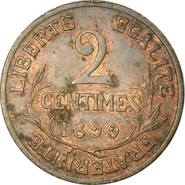 Coin, France, Dupuis, 2 Centimes, 1899, Paris, EF(40-45), Bronze, KM:841