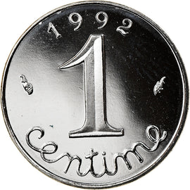 Coin, France, Épi, Centime, 1992, Paris, BE, MS(65-70), Stainless Steel