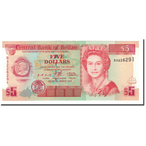 Belize, 5 Dollars, 1996, 1996-03-01, KM:58, UNC(65-70)