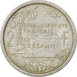 Coin, FRENCH OCEANIA, 2 Francs, 1949, VF(30-35), Aluminum, KM:3