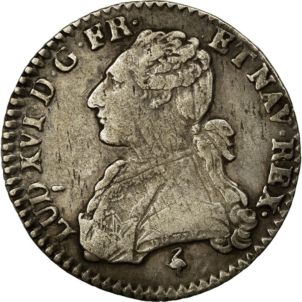 Coin, France, Louis XVI, 1/10 Écu, 12 Sols, 1/10 ECU, 1777, Paris, VF(30-35)
