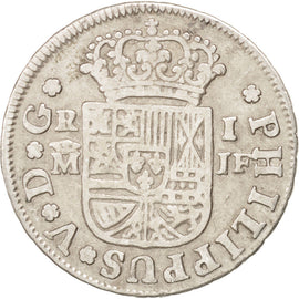 SPAIN, Real, 1732, Madrid, KM #298, EF(40-45), Silver, 2.84