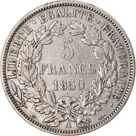 Coin, France, Cérès, 5 Francs, 1850, Paris, EF(40-45), Silver, KM:761.1