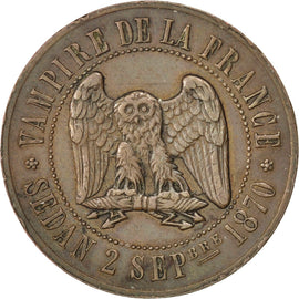 Coin, France, 10 Centimes, 1870, AU(50-53), Bronze