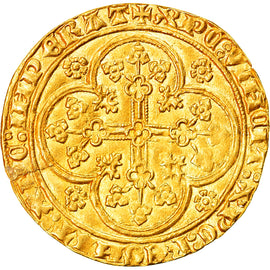 Coin, France, Flanders, Louis II de Mâle, Chaise d'or, AU(55-58), Gold