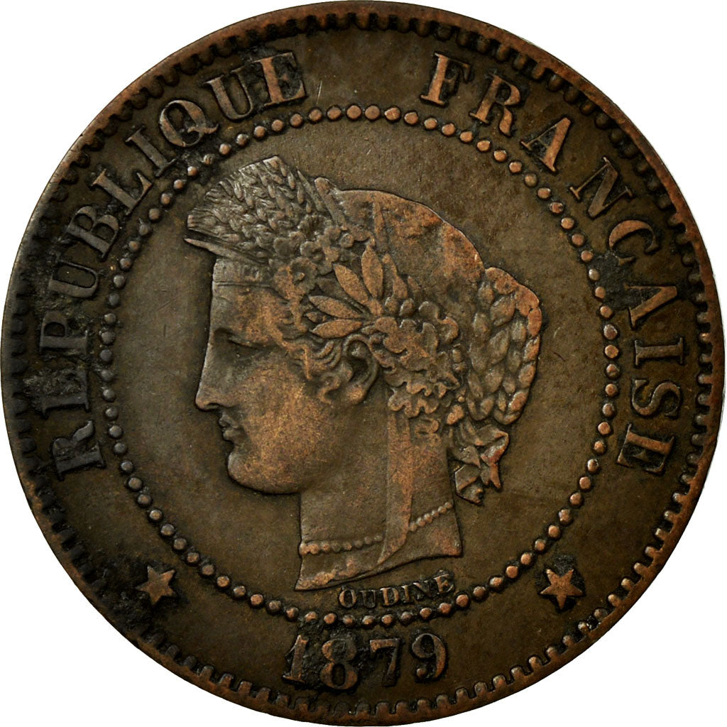 Coin, France, Cérès, 2 Centimes, 1879, Paris, EF(40-45), Bronze, KM:827.1