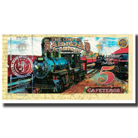 Banknote, Colombia, Tourist Banknote, 5 CAFETEROS THE COFFE RAILROAD COMPANY