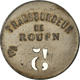 Coin, France, Transbordeur de Rouen, Rouen, 5 Centimes, EF(40-45), Nickel plated