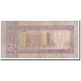 Banknote, The Gambia, 1 Dalasi, 1978, Undated, KM:8a, VF(20-25)