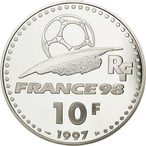 Coin, France, 10 Francs, 1997, MS(65-70), Silver, KM:1163, Gadoury:C174