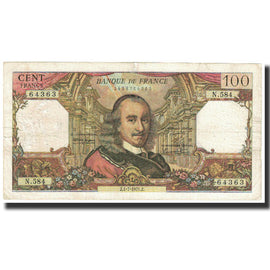 France, 100 Francs, Corneille, 1971, 1971-07-01, VF(30-35), Fayette:65.36