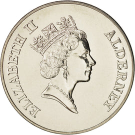 Alderney, Elizabeth II, 2 Pounds, 1997, British Royal Mint, MS(65-70)