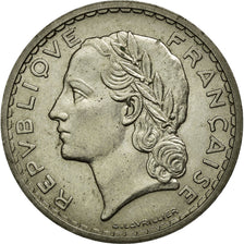Coin, France, Lavrillier, 5 Francs, 1938, AU(55-58), Nickel, KM:888, Gadoury:760