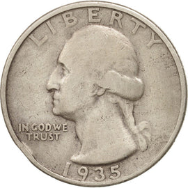 Coin, United States, Washington Quarter, Quarter, 1935, U.S. Mint, Philadelphia