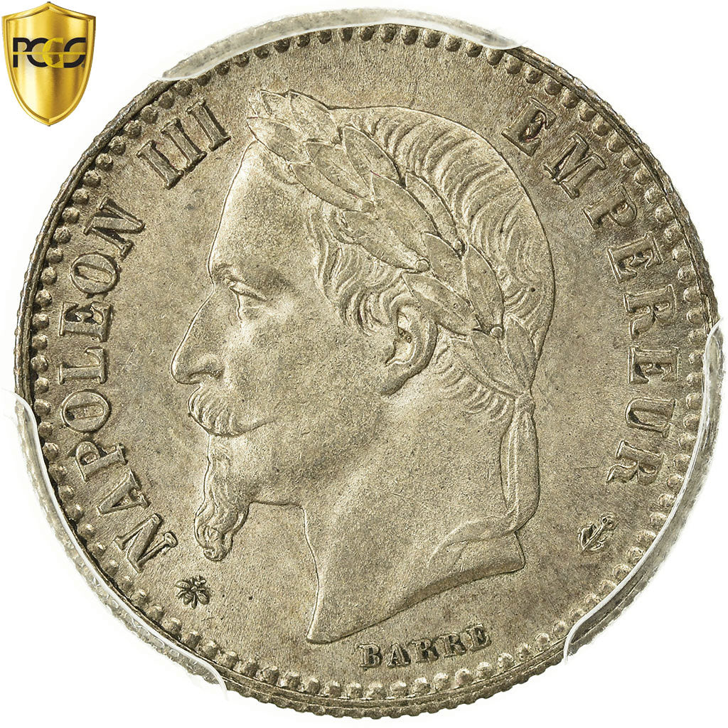 Coin, France, Napoleon III, Napoléon III, 50 Centimes, 1864, Paris, PCGS, MS64