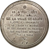 FRANCE, History, Government of National Defense, Medal, 1871, AU(55-58), Tin,...