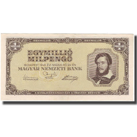 Banknote, Hungary, 1 Million Milpengö, 1946, KM:128, AU(50-53)