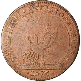 France, Token, Etats de Bourgogne, 1676, VF(30-35), Copper, Feuardent:9811