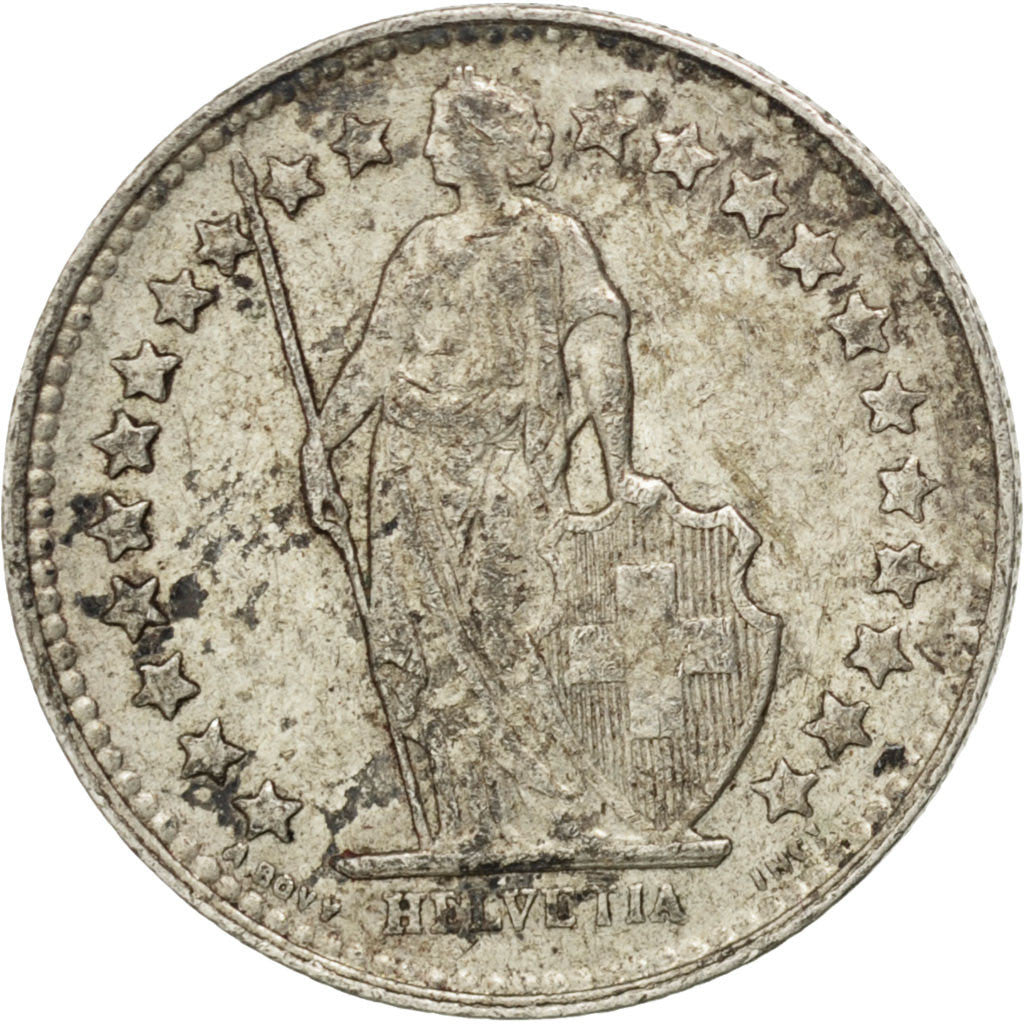 Coin, Switzerland, 1/2 Franc, 1953, Bern, VF(30-35), Silver, KM:23