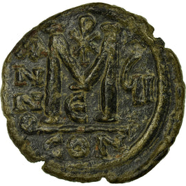 Coin, Justin II et Sophie, Follis, 571, Constantinople, EF(40-45), Copper