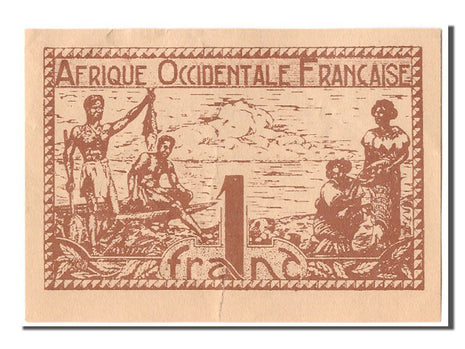 French West Africa, 1 Franc, KM #34b, UNC(63)