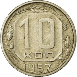 Coin, Russia, 10 Kopeks, 1957, Saint-Petersburg, VF(30-35), Copper-nickel