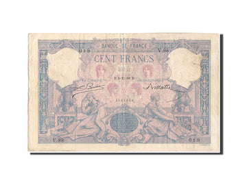 France, 100 Francs, 100 F 1888-1909 ''Bleu et Rose'', 1888, KM:65a, 1888-11-0...