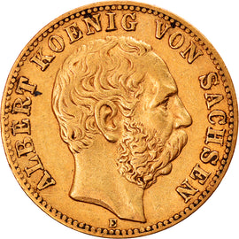 Coin, German States, SAXONY-ALBERTINE, Albert, 10 Mark, 1874, Muldenhütten