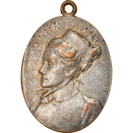 United Kingdom, Medal, Edith Cavell, Politics, Society, War, VF(30-35), Silvered