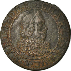 Coin, FRENCH STATES, NEVERS & RETHEL, Charles of Gonzaga, Double Tournois, 1634